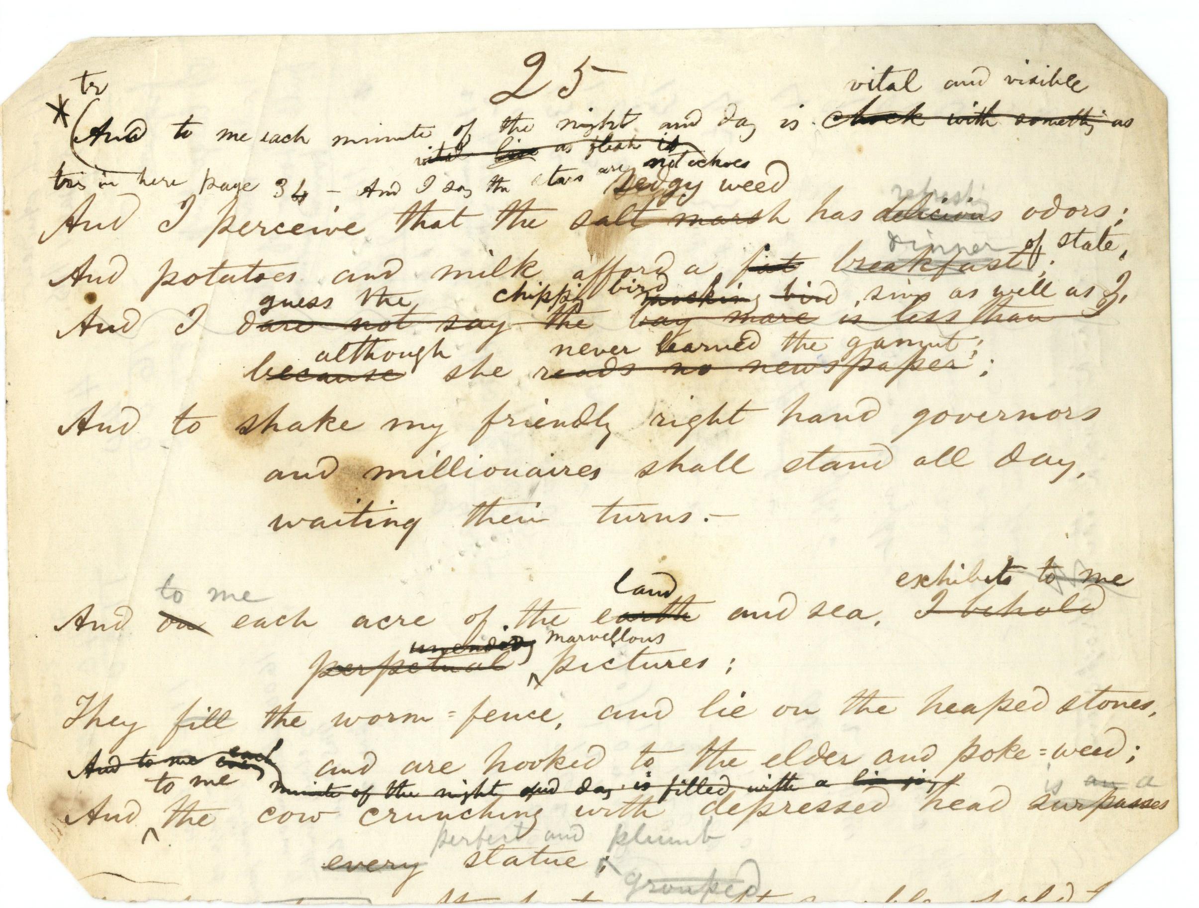 Walt Whitmans Manuscript Drafts Ed Folsom U Iowa